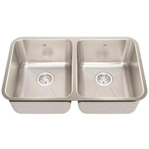 Kindred 30.88-in x 17.75-in Stainless Steel Double Sink