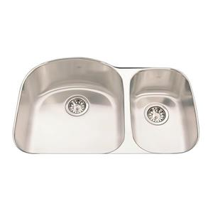 Kindred 31.50-in x 20.63-in Stainless Steel Double Sink