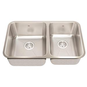 Kindred 29.88-in x 18.75-in Stainless Steel Double Sink