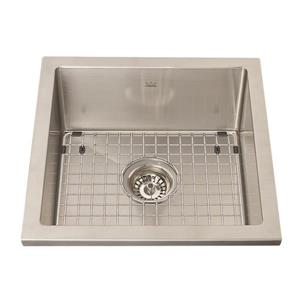 Kindred 17.50-in x 17.50-in Stainless Steel Single Sink