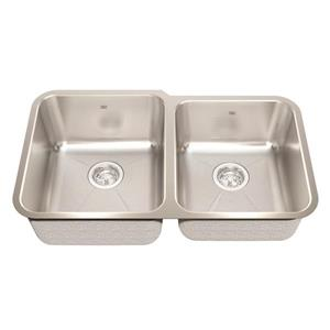 Kindred 31.88-in x 18.75-in Stainless Steel Double Sink