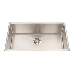 Kindred Designer Series 31.5-in x 18.5-in Single Topmount Kitchen Sink