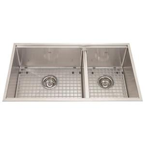 Kindred 31.50-in x 18.50-in Stainless Steel Double Sink