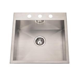 Kindred Franke 20-in X 20-in Stainless Steel Single Sink
