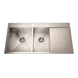 Kindred Stainless Steel Franke Double Sink 20-in X 39-in
