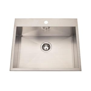 Kindred Franke 22-in X 25-in Stainless Steel Single Sink