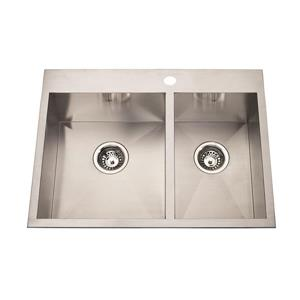 Kindred Stainless Steel Franke Double Sink 20-in X 27-in