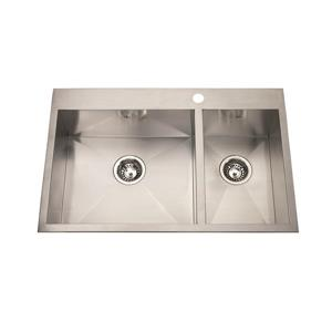 Kindred Stainless Steel Franke Double Sink 31-in