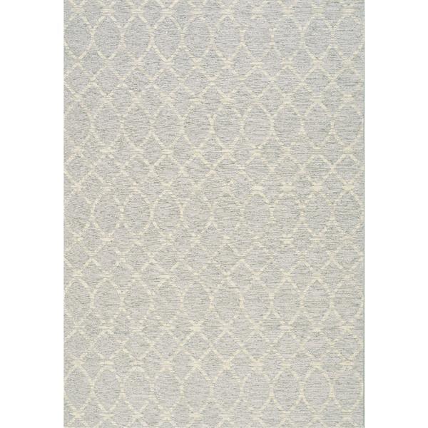 Tapis extérieur Vista vagues de Kalora, 5' x 8', gris