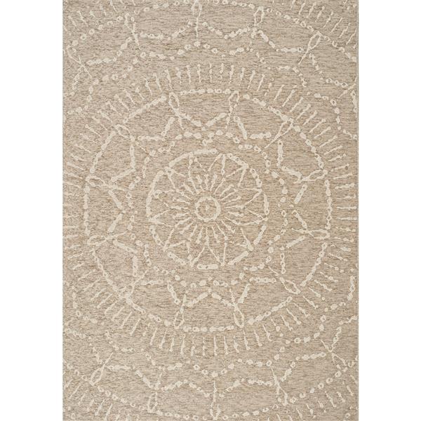 Tapis extérieur Vista de Kalora, 8' x 11', beige