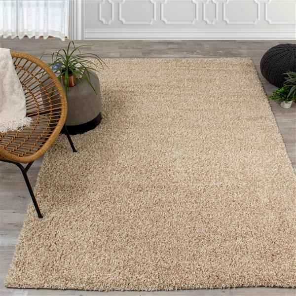 Kalora Shaggy Rug - 7' x 10' - Taupe/Beige