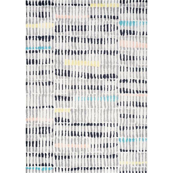 Tapis Spring crayons de couleur de Kalora, 2' x 4'