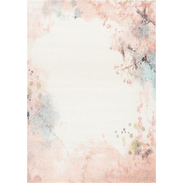 Tapis Spring délavé de Kalora, 5' x 8', rose