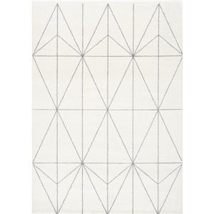 Tapis Spring géométrique, gris
