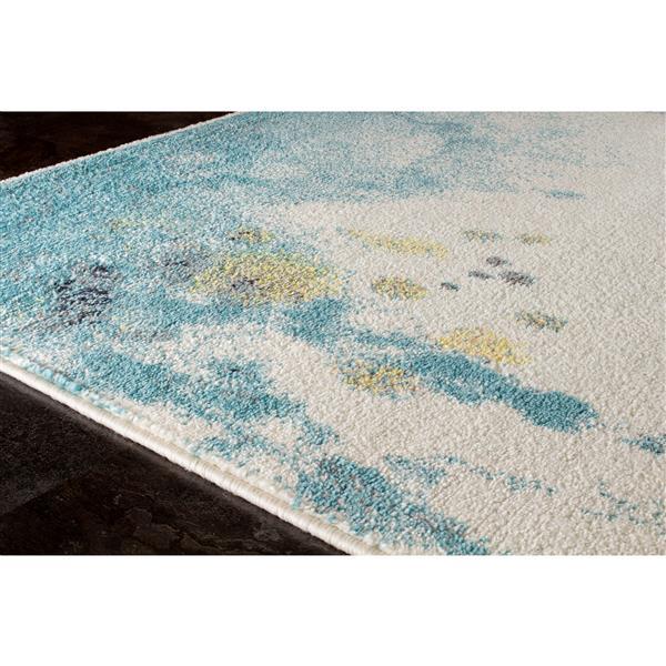 Tapis Spring délavé de Kalora, 8' x 11', bleu