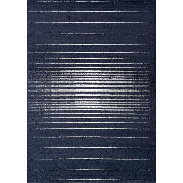 Tapis Spring son visible de Kalora, 5' x 8', bleu