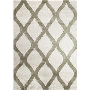 Kalora Solo Elegant Lattice Rug - 8' x 11' - Green