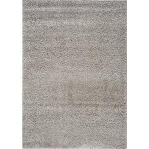 Tapis Shaggy, gris argenté