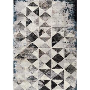 Tapis Sidra triangles chic de Kalora, 5' x 8', crème