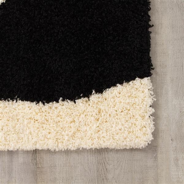 Tapis Shaggy vagues de Kalora, 8' x 11', beige