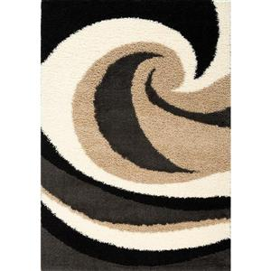 Tapis Shaggy vague, beige