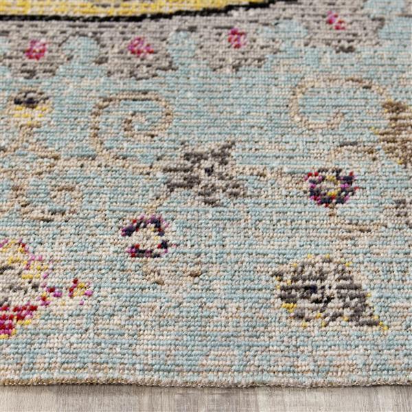 Tapis Sara délavée de Kalora, 8' x 11', bleu