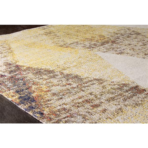 Tapis Sara triangles de Kalora, 5' x 8', jaune
