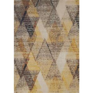 Kalora Sara Diamond Pattern Rug - 5' x 8' - Yellow