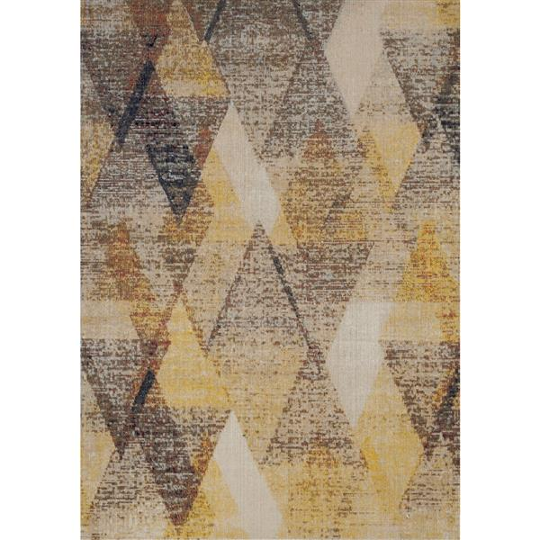 Kalora Sara Diamond Pattern Rug - 8' x 11' - Yellow