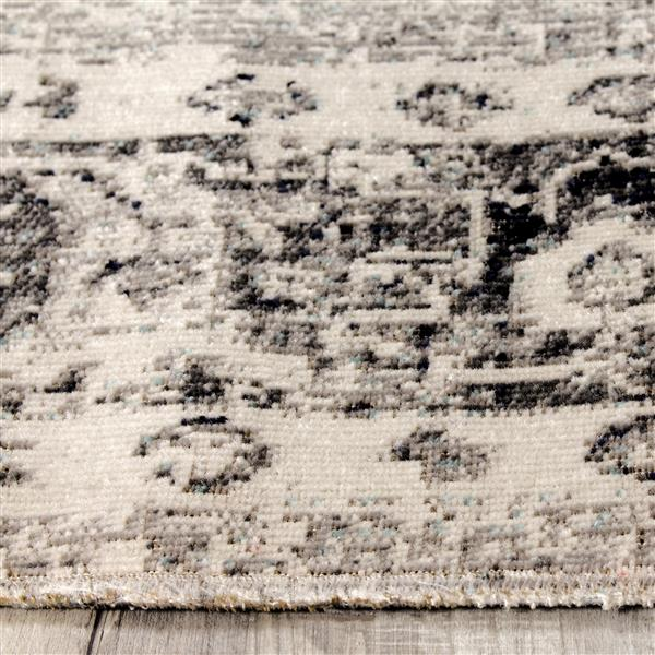 Tapis Sara élégance de Kalora, 5' x 8', gris