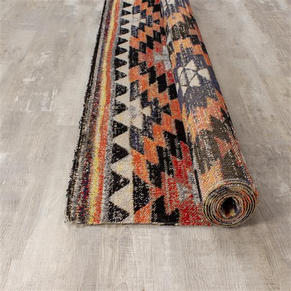 Kalora Sara Bright Southwest Rug - 8' x 11' - Black
