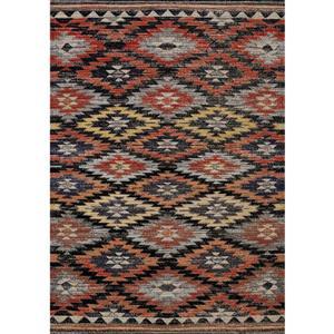 Tapis Sara sud-ouest de Kalora, 8' x 11', noir
