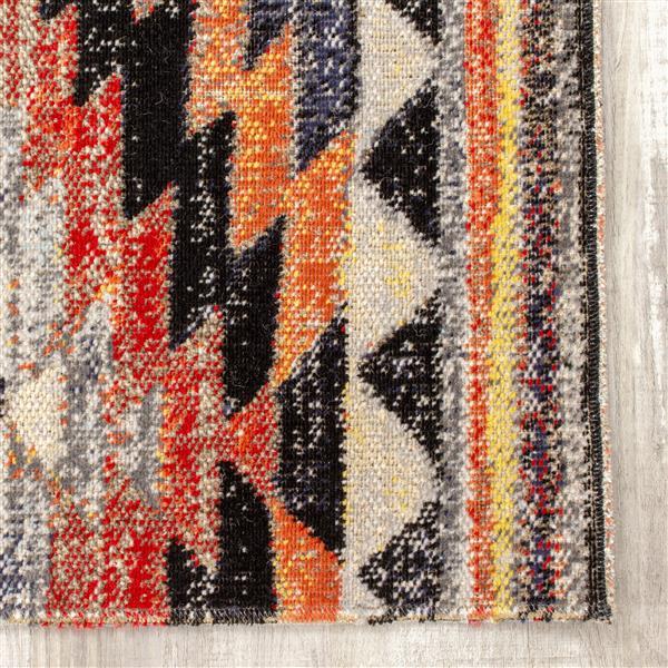 Tapis Sara sud-ouest de Kalora, 5' x 8', noir