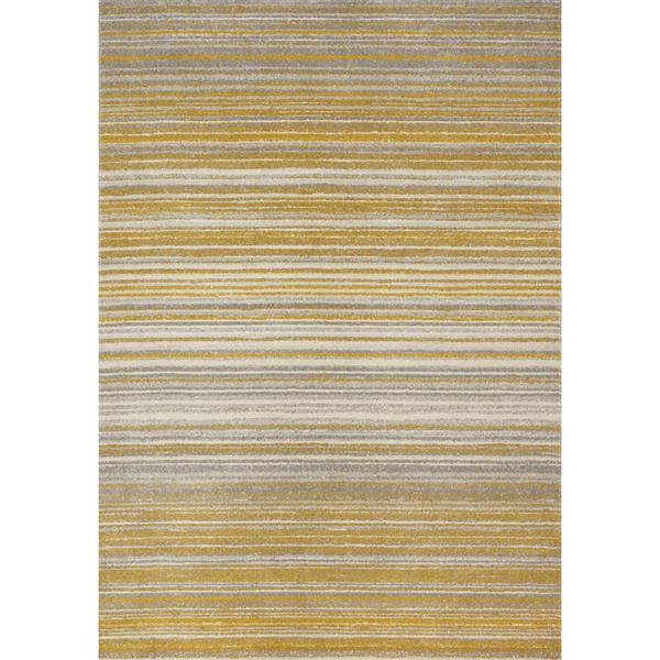 Tapis Safi de Kalora, 8' x 11', jaune
