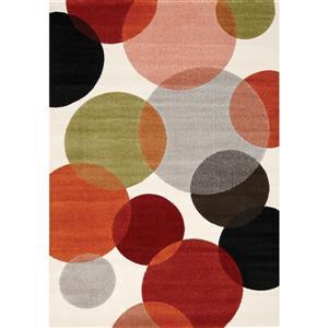 Tapis Safi bulles colorées de Kalora, 5' x 8'