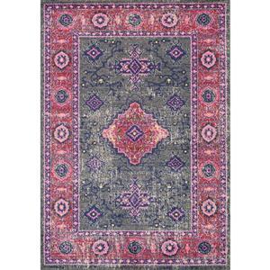 Tapis Saffron à motif médaillon de Kalora, 5' x 8'
