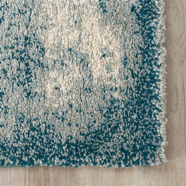 Tapis Sable délavé de Kalora, 8' x 11', sarcelle