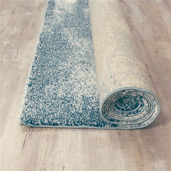 Tapis Sable délavé de Kalora, 5' x 8', sarcelle