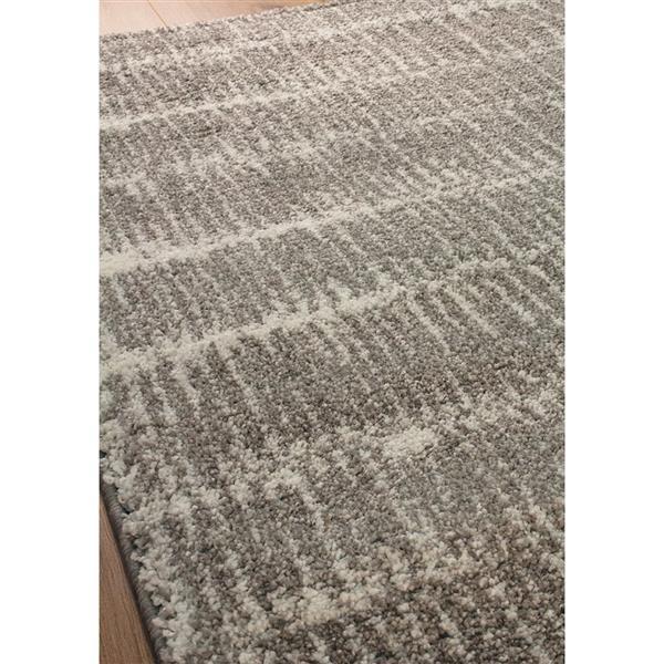 Tapis Sable cordons de Kalora, 8' x 11', gris