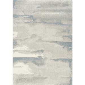 Tapis Sable cirrus de Kalora, 7' x 10', gris