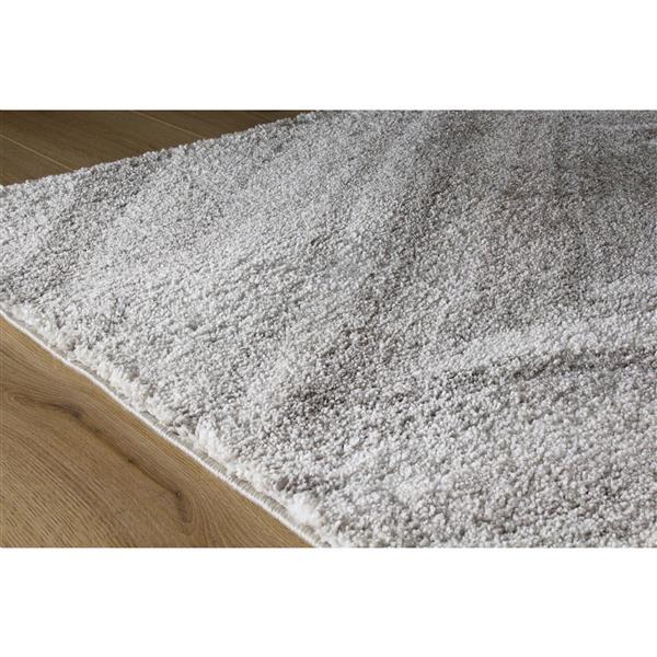 Tapis Sable géométrique de Kalora, 8' x 11', gris