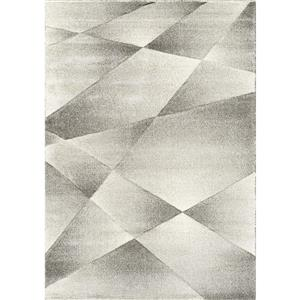 Kalora Sable Shaded Polygons Rug - 8' x 11' - Grey