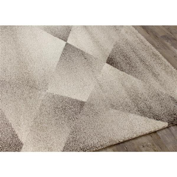 Tapis Sable polygones de Kalora, 7' x 10', gris