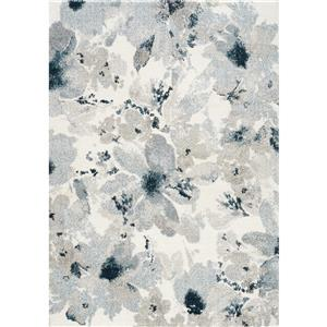 Kalora Sable Flower Pattern Rug - 5' x 8' - Grey