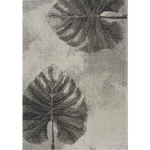 Tapis Sable de Kalora, 5' x 8', gris