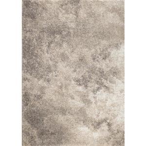 Tapis Sable nuages de Kalora, 5' x 8', gris