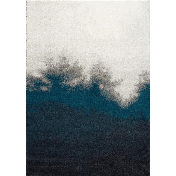 Tapis Sable transition de Kalora, 8' x 11', noir