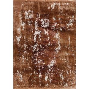 Tapis Sabine abstrait délavé de Kalora, 5' x 8', orange