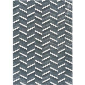 Sabine Alternate Stripes Rug - Grey