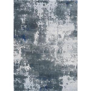 Tapis Sabine abstrait délavé de Kalora, 8' x 11', gris
